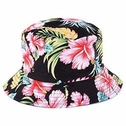 BYOS Fashion Cotton Unisex Summer Printed Bucket Sun Hat Cap