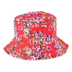 BYOS Fashion Cotton Unisex Summer Printed Bucket Sun Hat Cap