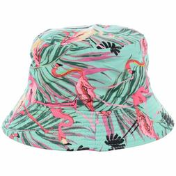 Byos Packable Reversible Black Printed Fisherman Bucket Sun