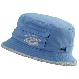 C853 Kids Dorfman Pacific Blue Cotton Twill Bucket Hat Size