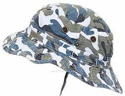 MG Camouflage Ripstop Floppy Bucket Summer Hat W Snap Up Sid