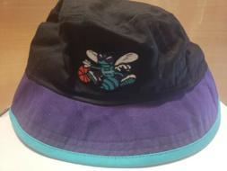 Charlotte Hornets NBA New Era Black Bucket Hat Cap Size XL