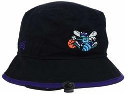 CHARLOTTE HORNETS - NBA NEW ERA Black/Purple Tipped Bucket B