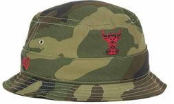 Chicago Bulls NBA New Era Buck Up Camo Bucket Cap Hat $30 Si