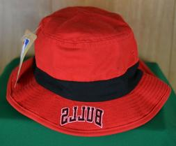 adidas Chicago Bulls NBA Red Bucket Hat with Black Band Cott