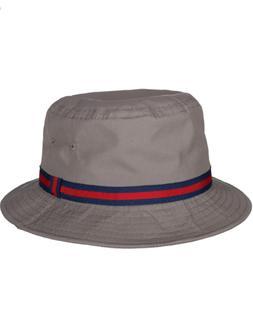 DORFMAN PACIFIC CLASSIC ROLL UP RAIN BUCKET HATS PLAIN COTTO