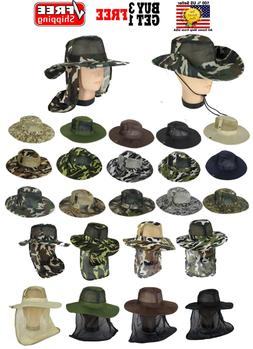 Cool Mesh Brim Camo Boonie Bucket Hat Military Hunting Fishi