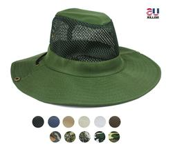 Men Boonie Bucket Cotton Hat Cap Military Fishing Mesh Sun B