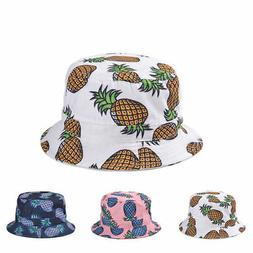 Cool Sun Outdoor Bucket Hat For Men Women Pineapple Fashiona