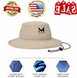 """MISSION Cooling Bucket Hat- UPF 50, 3"""" Wide Brim, Cools Wh"""