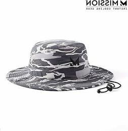 "MISSION Cooling Bucket Hat- UPF 50, 3"" Wide Brim, Cools"
