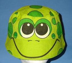 COSTUME BUCKET HAT-GREEN FROG;UNISEX;CHILD;ADULT-SM;SCHOOL P