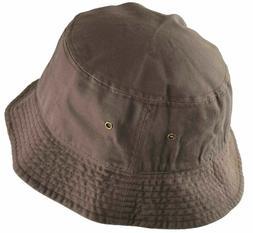 Newhattan Cotton Bucket Hat Brown