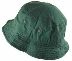 Newhattan Cotton Bucket Hat Forest Green