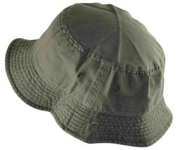 Newhattan Cotton Bucket Hat Olive Green