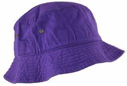 Newhattan Cotton Bucket Hat Purple