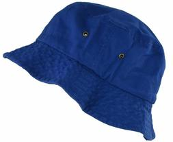 Newhattan Cotton Bucket Hat Royal Blue