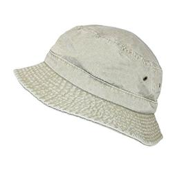 Dorfman Pacific Cotton Packable Summer Travel Bucket Hat Lar