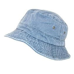 Dorfman Pacific Cotton Packable Summer Travel Bucket Hat 3X