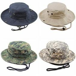 THE HAT DEPOT Cotton Stone-Washed Safari Wide Brim Bucket Ha