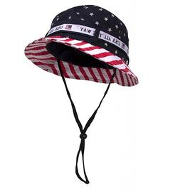 Cotton Twill America BUCKET HAT W/ USA FLAG S/M or M/L