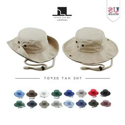 The Hat Depot Cotton Wide Brim Foldable Double-Sided Outdoor