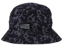 CROOKS & CASTLES - BLACK DIGI CAMO MEN'S BUCKET HAT CAP - SM