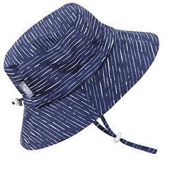 Cotton Toddler Boy UV Protective Sun Hat 50 UPF, Drawstring