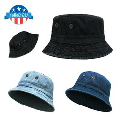 ChoKoLids Denim Jean Cotton Bucket Hat | Packable Summer Tra