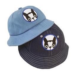 Dog Printed Baby Bucket Hat Denim Boys Girls Sun Hats Summer