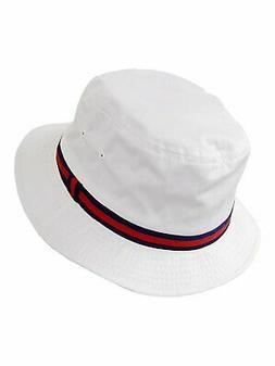Dorfman Pacific Deluxe Bucket Rain Hats in White -
