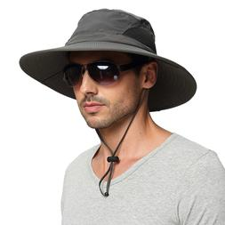 EINSKEY Mens Waterproof Sun Hat, Outdoor Sun Protection Buck