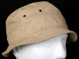New Era EK Fresh Bucket Khaki Sand Tan Linen Fitted Summer H