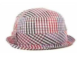 NEW ERA EK - Men's Gingham Fresh Red Bucket Hat - Size Small