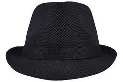 Fashion Fedora Bucket Cap Gangster Trilby Tweed Unisex Hat S