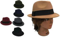 FEDORA TRILBY GANGSTER FEDORA BUCKET HAT MEN WOMEN CAP with