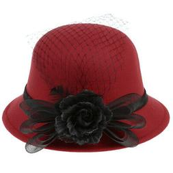 Female Feather HATS Women's Church Wedding Noble Dress Party