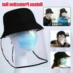 Fisherman Bucket Hats Protective Face Shield Cover Anti Sali