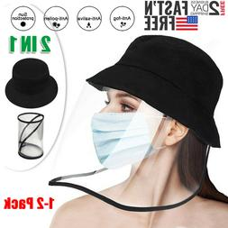 Fisherman Cap Anti Saliva Protective Bucket Hat + Clear Face