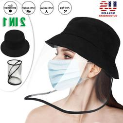 Fisherman Cap Anti Saliva Protective Bucket Hat Clear Face S