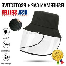 Fisherman Hat Bucket Cap Sun Visor Full Face Shield Dustproo