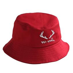 ChezAbbey Flat Top Bucket Hats Sun Protection Fisherman Caps