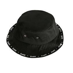 ChezAbbey Flat Top Bucket Hats Wide Brim Solid Color Sun Pro