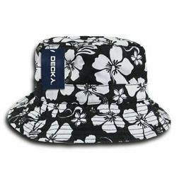 DECKY Floral Polo Bucket Hat, Black, Large/X-Large