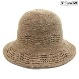 XdanqinX Foldable Summer Women's Breathable Hat Cotton Yarn