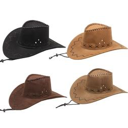 NEW Cowboy HAT WESTERN BROWN BLACK CAMEL BUCKET Cowgirl MEN
