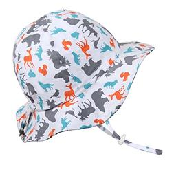 Fun Toddler Boys Girls Adjustable Cotton Sun Hats 50 UPF, St