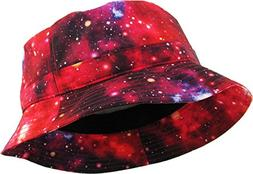 KBETHOS Galaxy Bucket Hat, One Size ,  Red