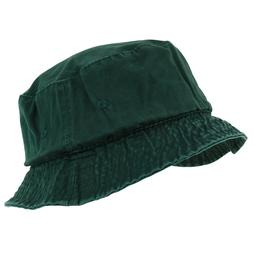 Garment Washed Cotton Twill Casual Bucket Hat -  S/M to 2XL/