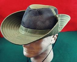 Hat Bucket Safari Outback Aussie Big Snap Up Brim Vented Mes